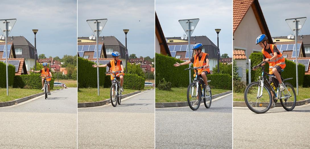 Odbočení na kole vpravo