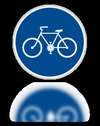 Stezka pro cyklisty - značka