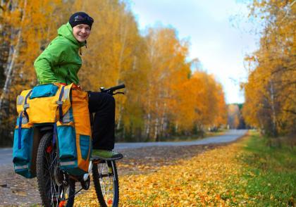 Naučte své děti správně zabalit věci na cyklovýlet (na kolo)