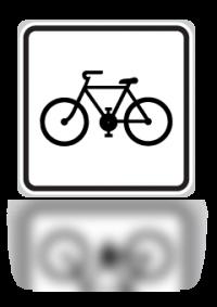 Cyklisté v pěší zóně - Dodatková tabulka