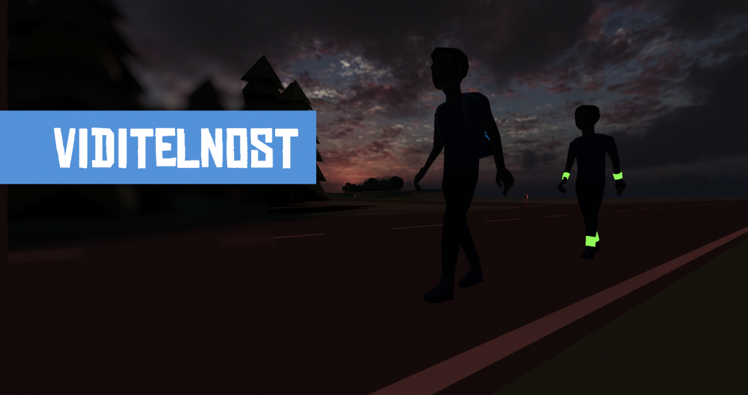 VR chodec - menu aplikace