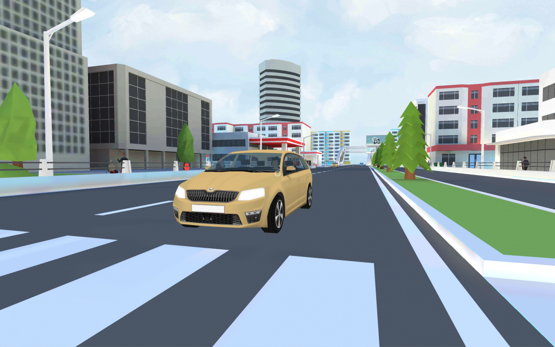 VR přecházení - ukázka z aplikace