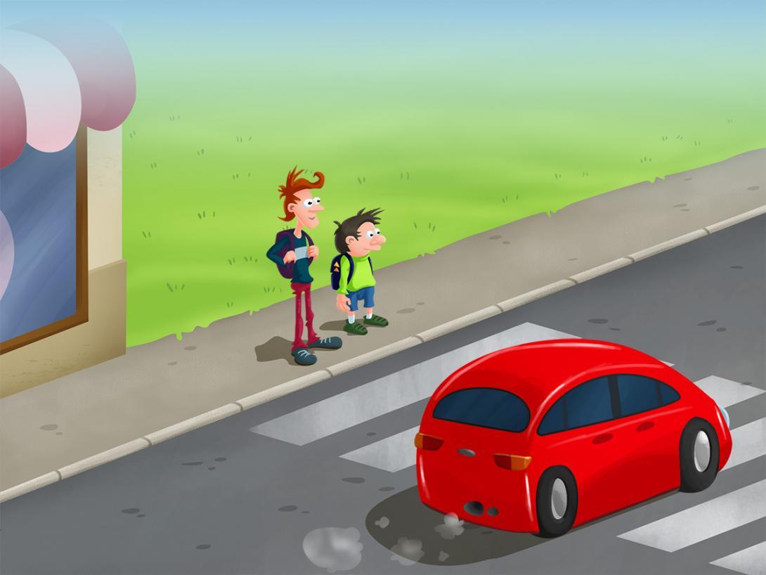 Ohleduplná jízda - ilustrace