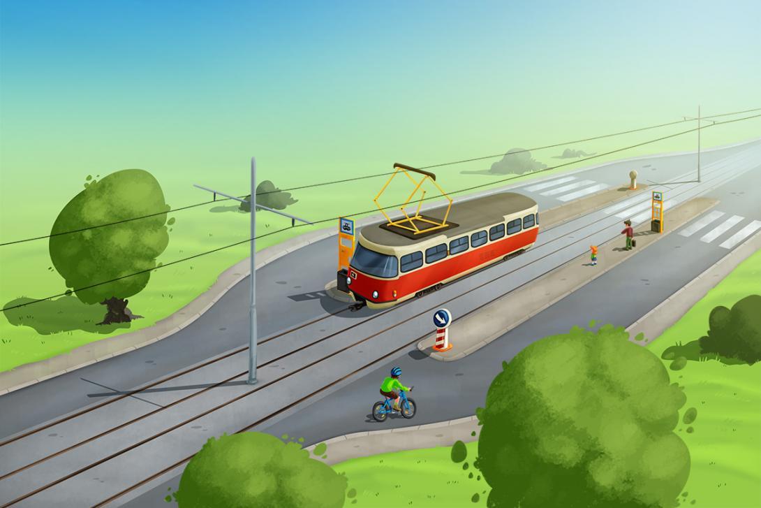 Správná jízda - ilustrace