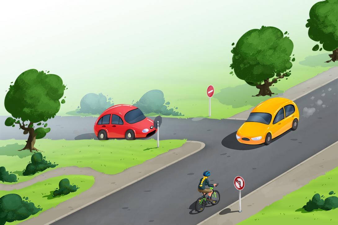Bezpečné cesty.cz - ilustrace