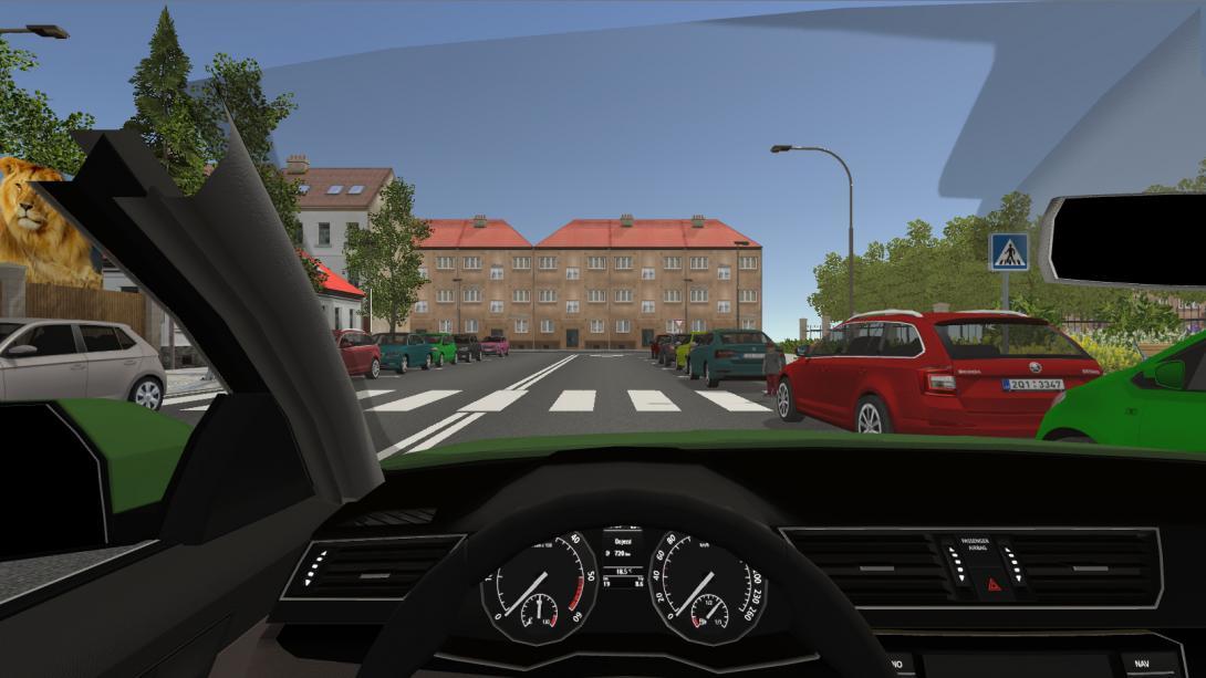 Interaktivní přecházení (3D aplikace) - pohled řidiče