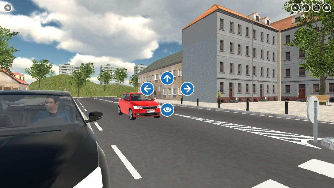Interaktivní přecházení (3D aplikace) - ovládání programu
