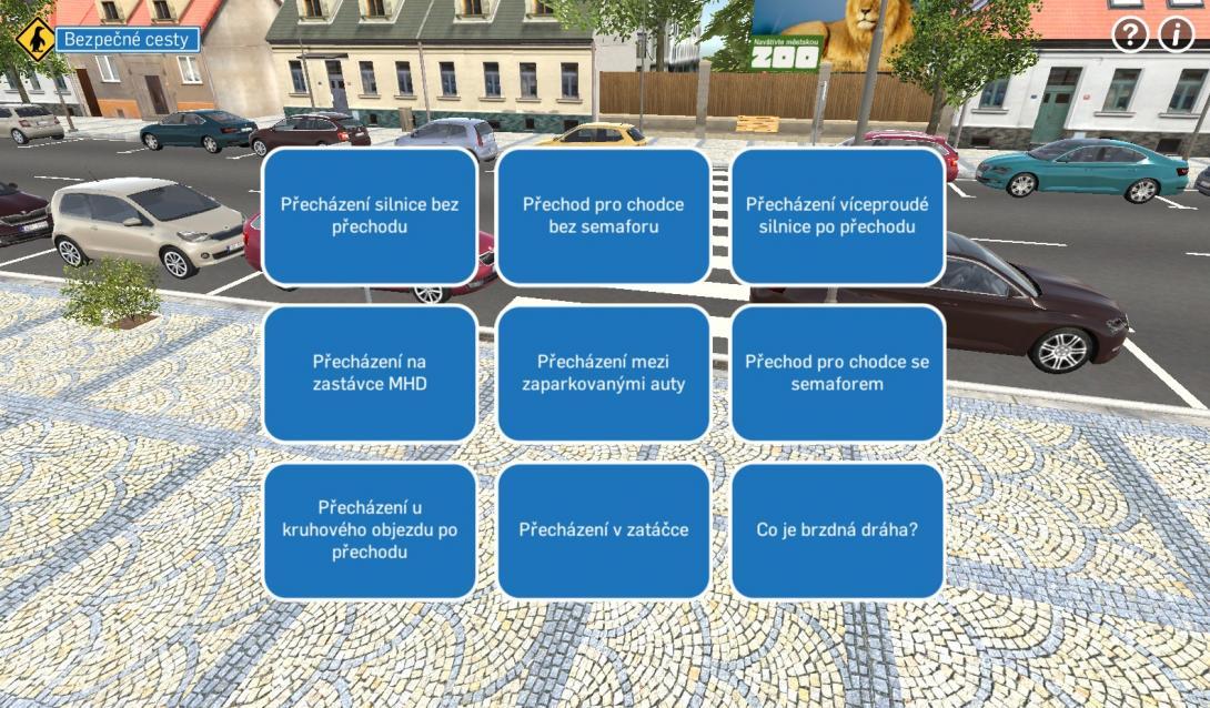 Interaktivní přecházení (3D aplikace)