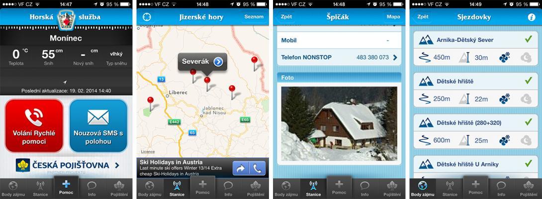 Aplikace Horská služba do mobilu
