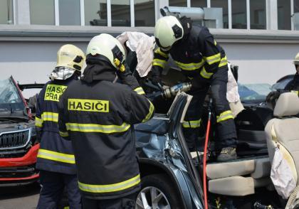 Školení hasičů ve ŠKODA AUTO