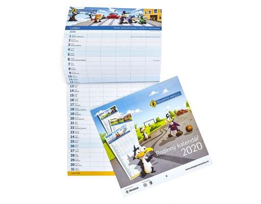 Rodinný kalendář pro rok 2020 -