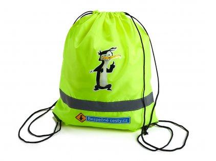 Reflexní batoh žlutý