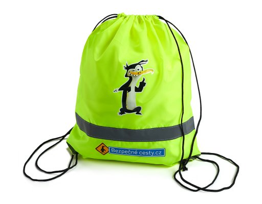 Reflexní batoh žlutý -