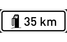 Vzdálenost k příští čerpací stanici