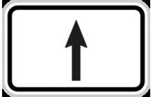 Směrová šipka pro směr přímo