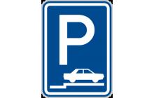 Parkoviště (stání na chodníku kolmé nebo šikmé)