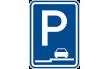 Parkoviště (stání na chodníku podélné)