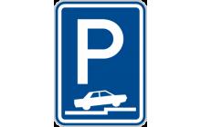 Parkoviště (částečné stání na chodníku kolmé nebo šikmé)