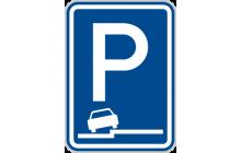 Parkoviště (částečné stání na chodníku podélné)
