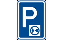 Parkoviště s parkovacím kotoučem