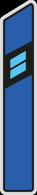 Směrový sloupek modrý pravý