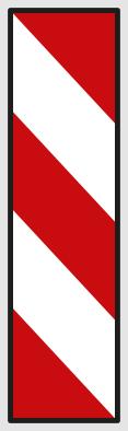 Směrovací deska se šikmými pruhy se sklonem vpravo