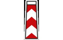 Vodicí deska středová se šikmými pruhy