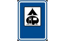 Tábořiště pro stany a obytné přívěsy