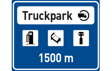 Návěst před truckparkem