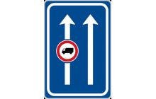 Omezení v jízdním pruhu