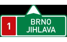 Směrová tabule pro příjezd k dálnici