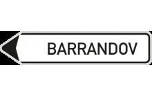 Směrová tabule s místním cílem