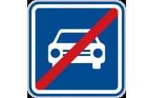 Konec silnice pro motorová vozidla