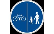 Stezka pro chodce a cyklisty dělená