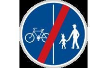 Konec stezky pro chodce a cyklisty dělené