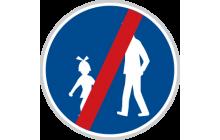 Konec stezky pro chodce