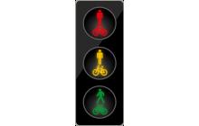 Tříbarevná soustava se signály pro chodce a cyklisty