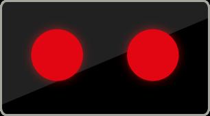 Signál dvou vedle sebe umístěných střídavě přerušovaných červených světel