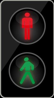 Dvoubarevná soustava se signály pro chodce