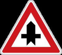 Dopravní značka Křižovatka s vedlejší silnicí