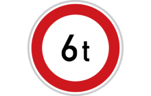 Zákaz vjezdu vozidel, jejichž okamžitá hmotnost přesahuje vyznačenou mez