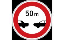 Nejmenší vzdálenost mezi vozidly